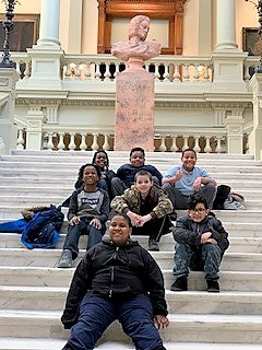 Ms. Baker and Ms. Zippo's Class Visit the Georgia State Capital