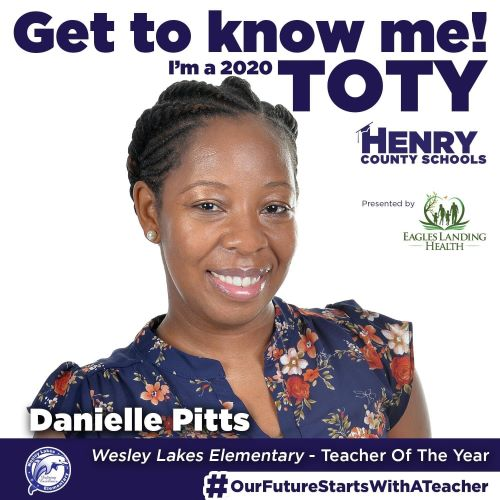 Teacher of the Year - Ms. Danielle Pitts