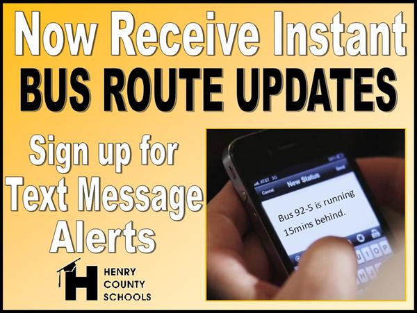 Text Alerts for Bus Updates
