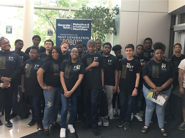 HCHS/AAS students participated in Georgia Tech's National Robotics Week Open Hous