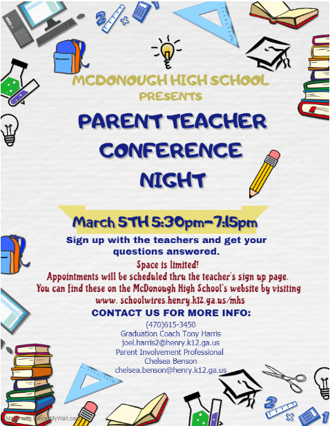 March 5th, Parent Conference Night