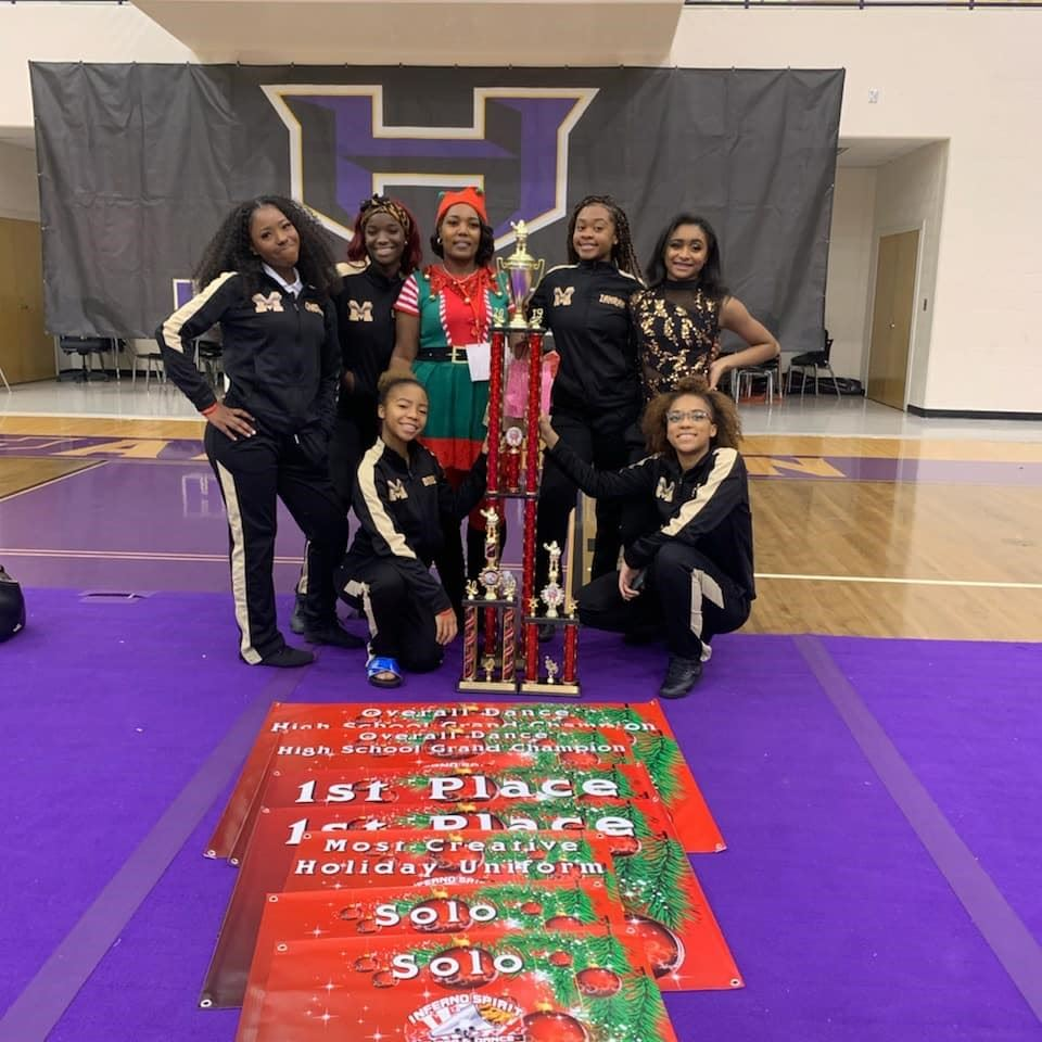 Congratulations to MHS Prancing Hawkettes as they won the Overall Competition (Annual Inferno Jingle Jam)