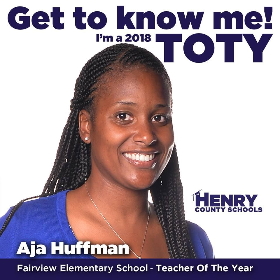 Our 2018 Teacher of the Year: Mrs. Aja Huffman