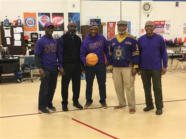 Brothers of Omega Psi Phi Fraternity
