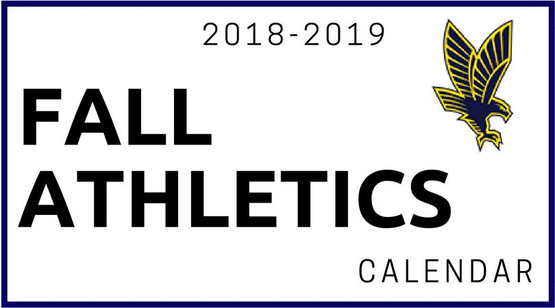 Fall Athletics Calendar