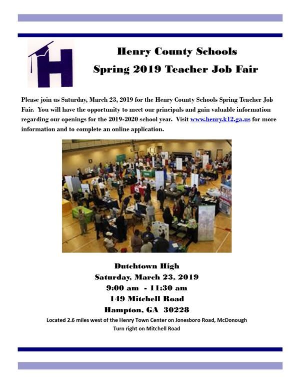 Spring 2019 Teacher Job Fair