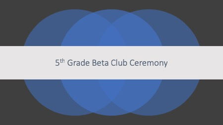 5th Grade Beta Ceremony