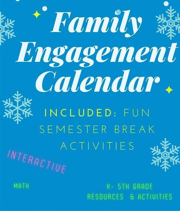 Monthly Family Engagement Calendar