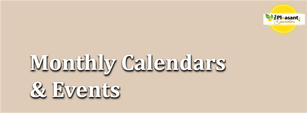 Monthly Calendar & Events
