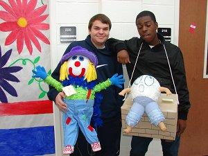 clown and Humpty Dumpty