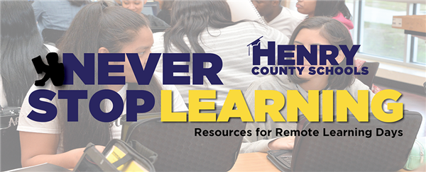 LHS Plan of Action - Never Stop Learning: Remote Learning Days. Click for additional information.