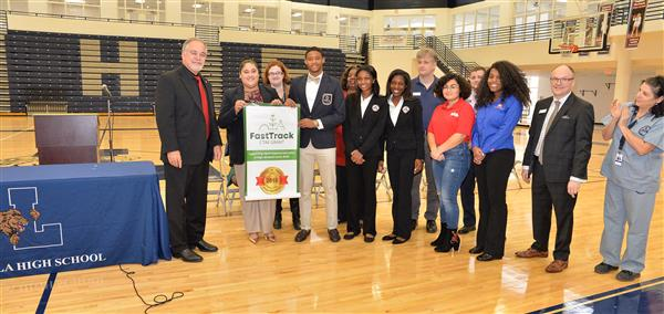 State School Superintendent Richard Woods visited Luella High School to recognize us as recipients of the FastTrack grant funds to support our Career, Technical, and Agricultural Education (CTAE) labs.
