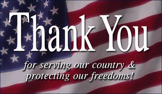 Congratulations and thank you to all of our veterans and their families. Thank you for your service and sacrifice for our country.