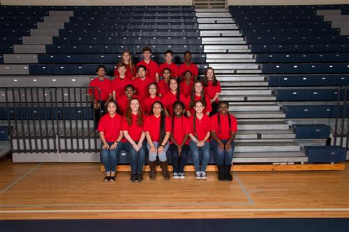 A section of the members of the National Science Honors Society