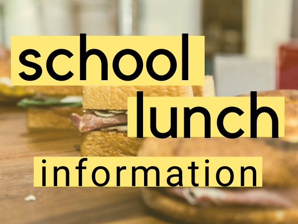 Lunch information and menu