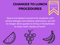 Changes to Lunch Procedures