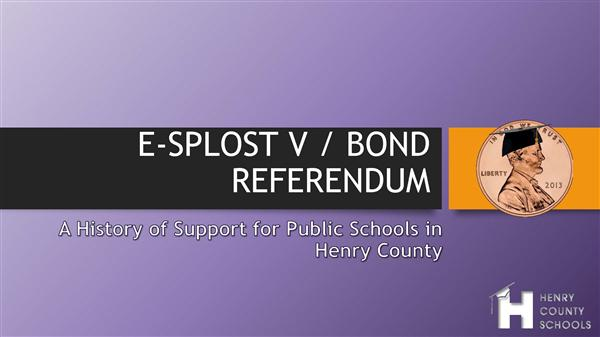 E-SPLOST / BOND REFERENDUM
