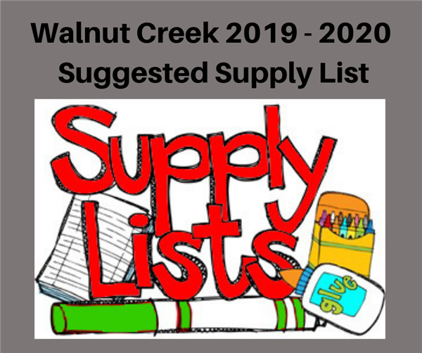 Suggested School Supply List 2019-2020