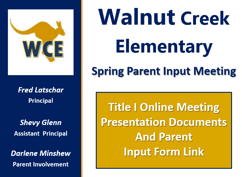 WCE Parent Input Meeting