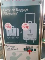 Is your suitcase too big?