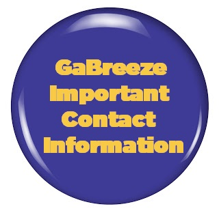 GaBreeze Important Contact Information