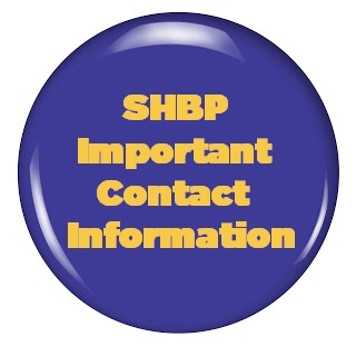 SHBP Important Contact Information