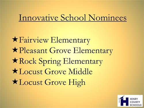 Innovative school nominees