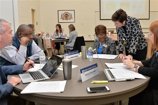 Working with district leadership during a board work session