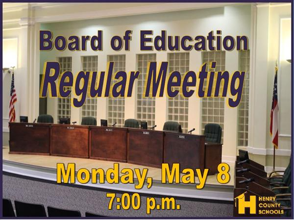 BOE May Regular Meeting