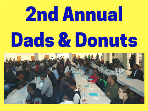 Image of crowd attending Dads Donuts