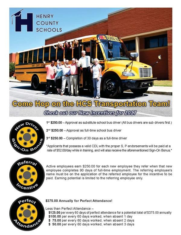 Bus Driver Incentives