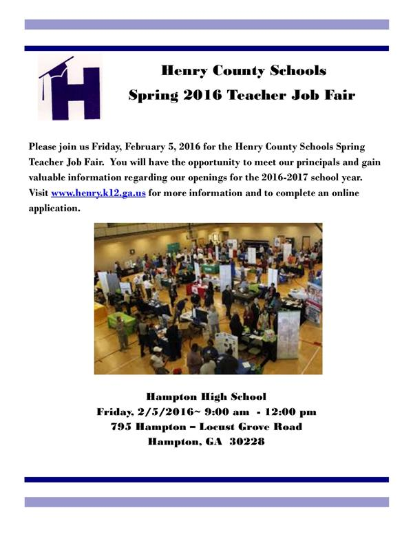 Spring 2016 Teacher Job Fair