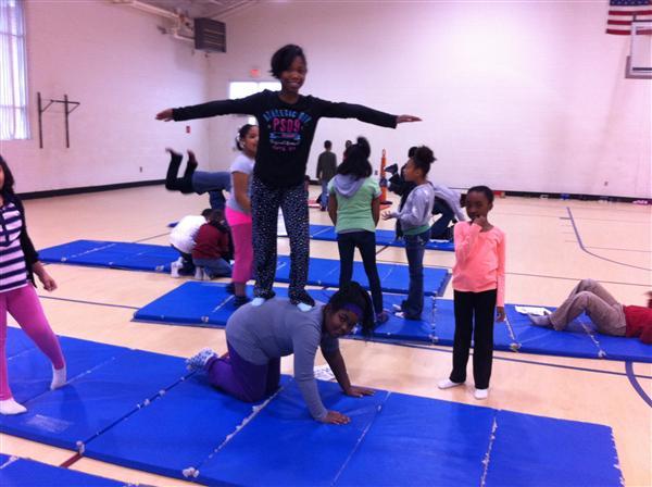 Physical education stunts